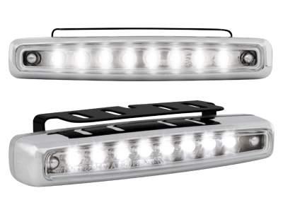 Kit de Luz diurna universal de 8 LEDs 112x24x38 mm