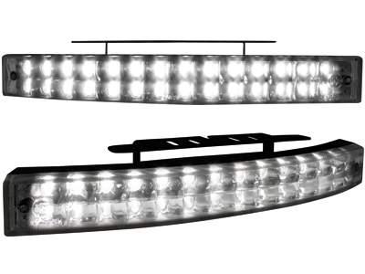 Kit de Luz diurna universal de 28 LEDs 200x24x42mm negros