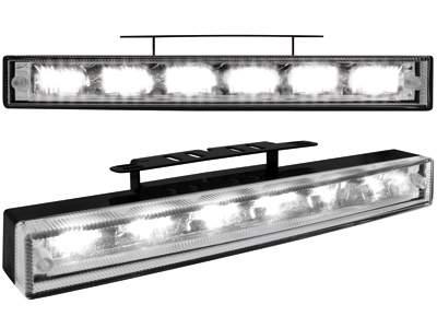 Kit de Luz diurna universal de 6 LEDs de alta intensidad 200x29x43-30 mm