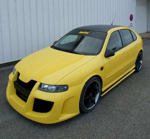 Body kit of Seat Leon 1M Cupra Tuning, fast car, sports car, tuning car, tuned model