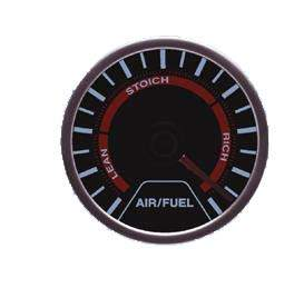 Reloj air / fuel ratio negro de LEDs