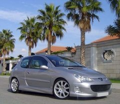 Faldones laterales taloneras Peugeot 206 3 puertas kit Vision PA