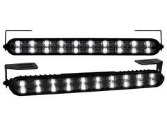 Kit de Luz diurna universal de 20 LEDs 220x24x35mm negras