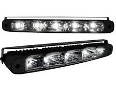 Kit de Luz diurna universal de 5 LEDs de alta intensidad 220x26x48mm negras
