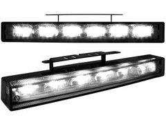 Kit de Luz diurna universal de 6 LEDs de alta intensidad 200x29x43-30 mm negras