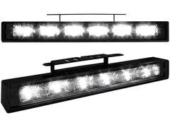 Kit de Luz diurna universal de 6 LEDs de alta intensidad 200x29x28 mm negras