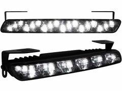 Kit de Luz diurna universal de 18 LEDs 200x23x40 mm negras