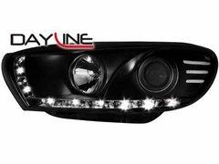Faros delanteros luz diurna DAYLINE negros para VW Scirocco nuevo 08-