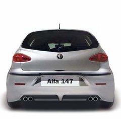 Difusor Carbono para Parachoques trasero para Alfa Romeo 147 kit