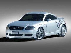 Faldones laterales + flaps en carbono Audi TT kit Cadamuro