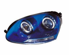 Faros delanteros angel eyes azules para VW Golf V