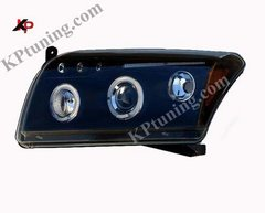 Faros delanteros angel eyes negros para Dodge Caliber