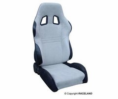 Asiento deportivo Baquets reclinable RaceLand S- GTB Gris y Negr