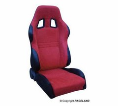 Asiento deportivo Baquets reclinable RaceLand S- GTB Rojo