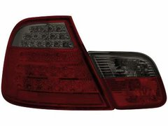 Faros traseros de LEDs para BMW E46 Coupé 98-03 rojos/ahumados 4piezas
