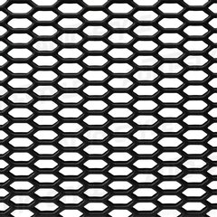 Rejilla ABS negra Hexagonal abierta 125x25cm