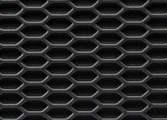 Rejilla ABS negra Hexagonal cerrada 125x25cm