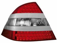 Faros traseros de LEDs para Mercedes Benz W220 S-Kl.silver/rojos/claros