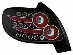 Faros traseros de LEDs para Peugeot 206 98-09 negros