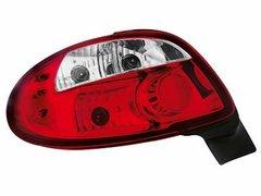 Faros traseros para Peugeot 206 98-09 rojos/claros