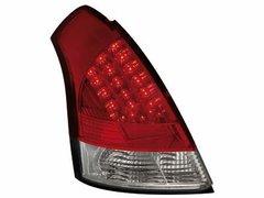 Faros traseros de LEDs para Suzuki Swift 05+ rojos/claros