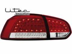 Faros traseros de LEDs para VW Golf VI con intermitente de LEDs rojos/claros