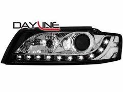 Faros delanteros luz diurna DAYLINE para AUDI A4 8E 01-04 negros