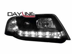 Faros delanteros luz diurna DAYLINE para AUDI A6 4B 97-01 negros