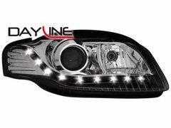 Faros delanteros luz diurna DAYLINE para AUDI A4 B7 04-08 negros