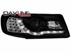 Faros delanteros luz diurna DAYLINE para AUDI 100 Typ 4C TFL Optik negros