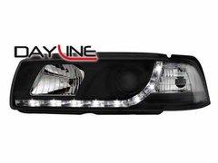 Faros delanteros luz diurna DAYLINE para BMW E36 Lim. 92-98 negros
