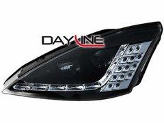 Faros delanteros luz diurna DAYLINE para Ford Focus 01-04 negros