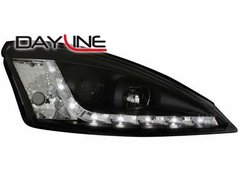 Faros delanteros luz diurna DAYLINE para Ford Focus 98-01 negros