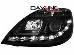 Faros delanteros luz diurna DAYLINE para Ford Fiesta 02-05 negros