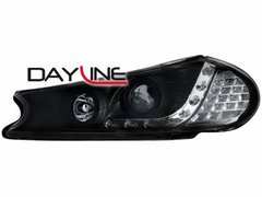 Faros delanteros luz diurna DAYLINE para Ford Mondeo 96-00 negros