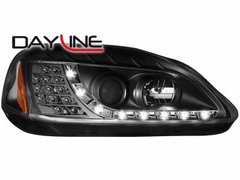 Faros delanteros luz diurna DAYLINE para Honda Civic 2/5T 99-02 negros