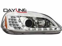 Faros delanteros luz diurna DAYLINE para Honda Civic 2/5T 99-02 chrome