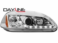 Faros delanteros luz diurna DAYLINE para Honda Civic 2/5T 96-98 chrome