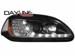 Faros delanteros luz diurna DAYLINE para Honda Civic 2/5T 96-98 negros