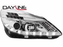Faros delanteros luz diurna DAYLINE para Opel Corsa D 06+ TFL-Optik chrome