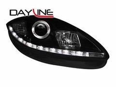 Faros delanteros luz diurna DAYLINE para Seat Leon 1P1 05-09 negros