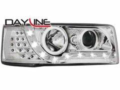 Faros delanteros luz diurna DAYLINE para VW T4 90-03