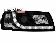 Faros delanteros luz diurna DAYLINE para VW T4 96-03 negros