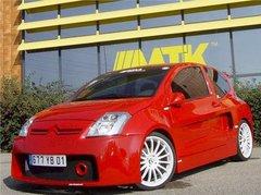 Cubre capo WRC para Citroen C2 kit CX2 PAM tuning
